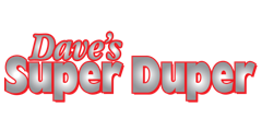A theme logo of Dave's Super Duper